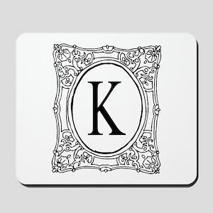 Name initial monogram Mousepad