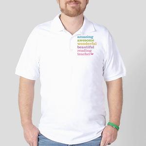 Reading Teacher Golf Shirt