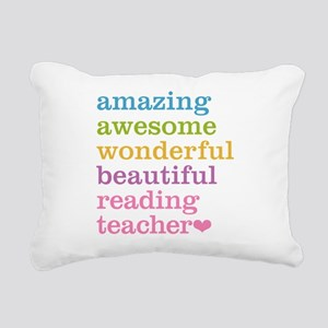 Reading Teacher Rectangular Canvas Pillow