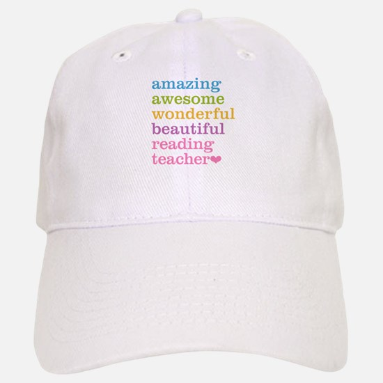 Reading Teacher Baseball Baseball Cap