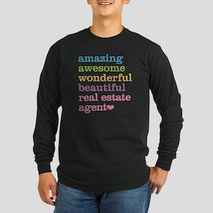 Real Estate Agent Long Sleeve Dark T-Shirt