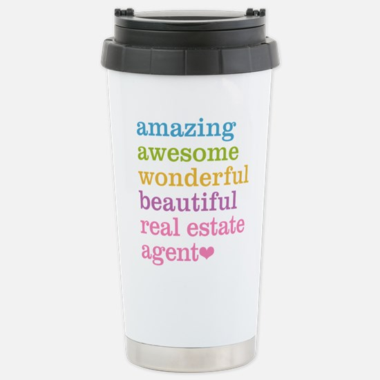 Real Estate Agent Stainless Steel Travel Mug
