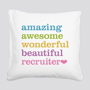 Awesome Recruiter Square Canvas Pillow
