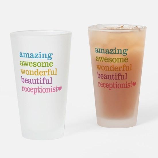 Receptionist Drinking Glass
