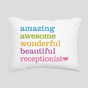 Receptionist Rectangular Canvas Pillow