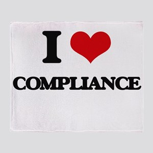 I Love Compliance Throw Blanket