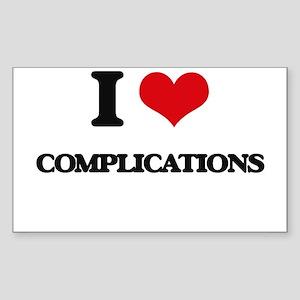 I love Complications Sticker