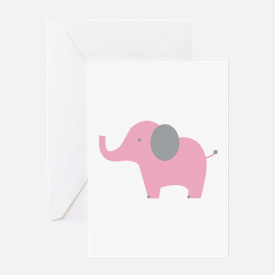 Pink Elephant Greeting Cards