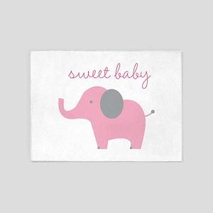 Sweet Baby 5'x7'Area Rug