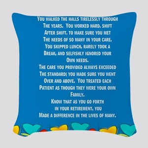 Retired Nurse Woven Throw Pillow