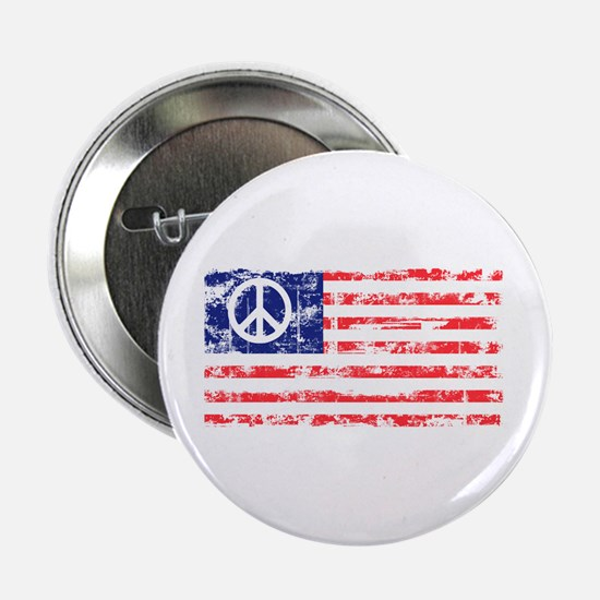 Vintage Peace In America Button