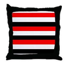 Red, white and black stripes Throw Pillow