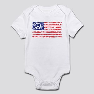 Vintage Peace In America Infant Creeper