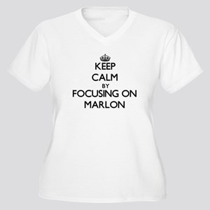 Keep Calm by focusing on on Marl Plus Size T-Shirt