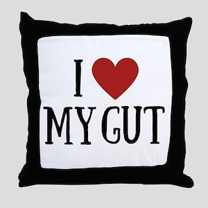 I love my gut Throw Pillow