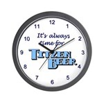 Wall Clock with Motto