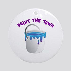 Paint The Town Ornament (Round)