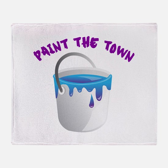 Paint The Town Throw Blanket