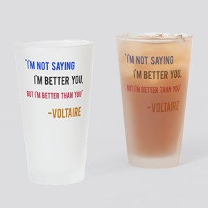Voltaire Ego Quote Drinking Glass
