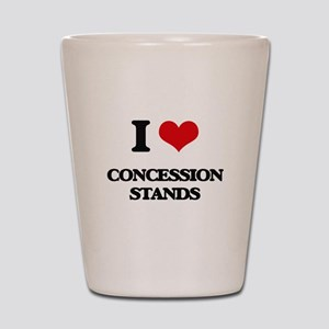 I love Concession Stands Shot Glass