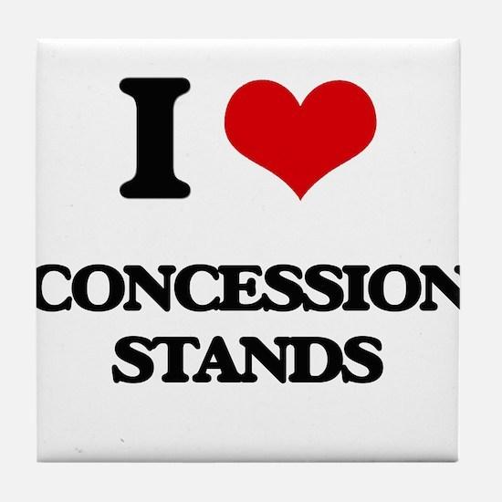 I love Concession Stands Tile Coaster