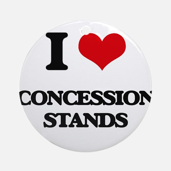 I love Concession Stands Ornament (Round)