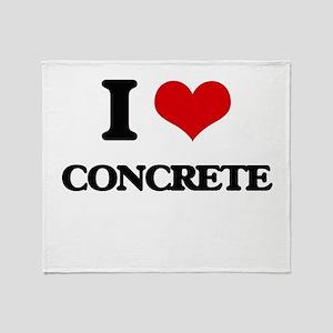 I love Concrete Throw Blanket