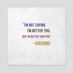 Voltaire Ego Quote Queen Duvet
