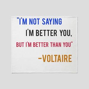 Voltaire Ego Quote Throw Blanket