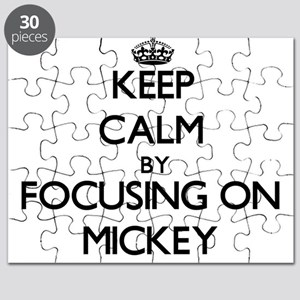 Keep Calm by focusing on on Mickey Puzzle