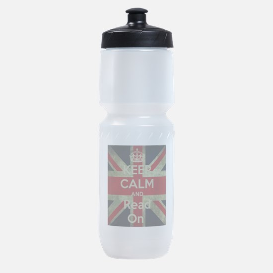 Keep Calm and Read On Sports Bottle