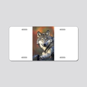 Wolf 025 Aluminum License Plate