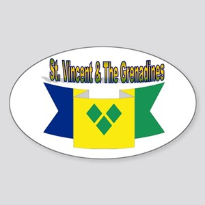 St Vincent & The Grenadines Sticker (oval)