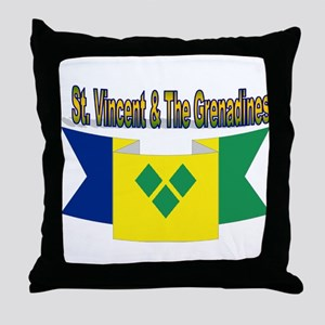 St Vincent & The Grenadines Throw Pillow