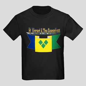 St Vincent & The Grenadines Kids Dark T-Shirt