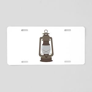 Camp Lantern Aluminum License Plate