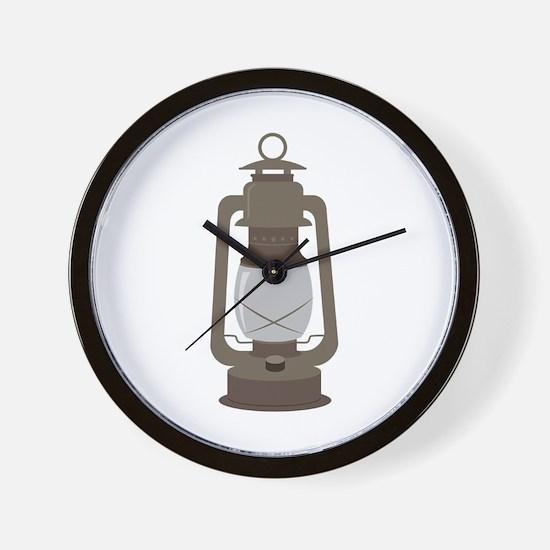 Camp Lantern Wall Clock