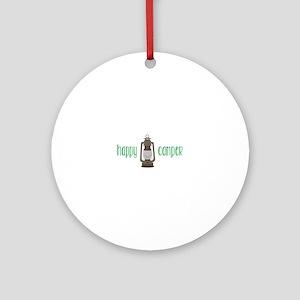 Happy Camper Ornament (Round)