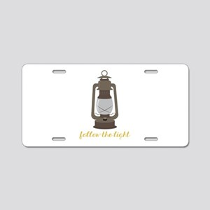 Follow The Light Aluminum License Plate