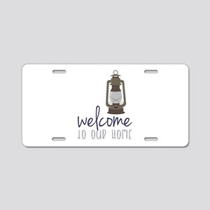 Welcome Aluminum License Plate