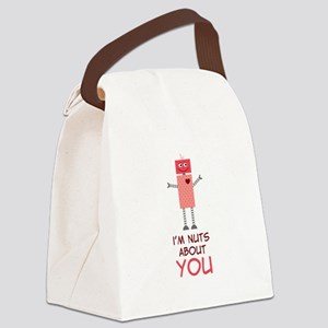Nuts About You Canvas Lunch Bag