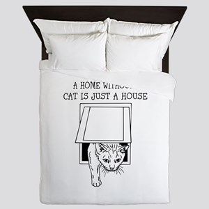 Cute cat design Queen Duvet