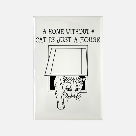 Cute Cat Design Magnets With Funny Quote