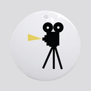 Movie Camera Ornament (Round)