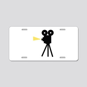 Movie Camera Aluminum License Plate