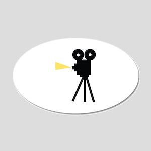 Movie Camera Wall Decal
