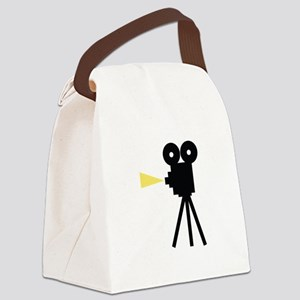 Movie Camera Canvas Lunch Bag