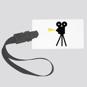 Movie Camera Luggage Tag