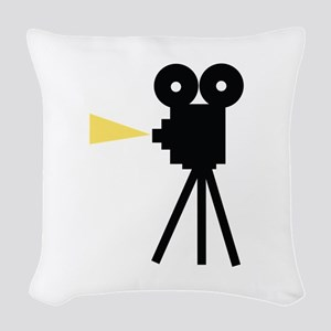 Movie Camera Woven Throw Pillow