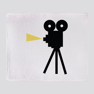 Movie Camera Throw Blanket